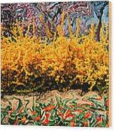 A Painting Springtime 2 Dali-style Wood Print