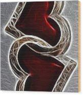 A Pair Of Hearts Wood Print