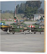A Pair Of Hellenic Air Force T-2 Wood Print