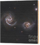 A Pair Of Interacting Spiral Galaxies Wood Print