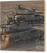 A Pair Of Israel Defense Force Merkava Wood Print