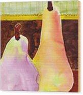 A Pair Of Pears Wood Print