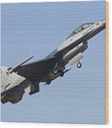 A Pakistan Air Force F-16a Block 15 Wood Print
