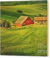 A Palouse Farm Wood Print