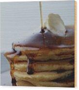 A Pancake Stack Wood Print
