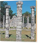 A Panoramic View Of Columns Surround Wood Print