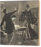 A Parisien Drama, Illustration From Le Wood Print