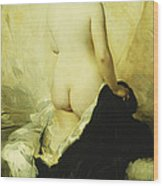 A Partially Draped Nude Wood Print by Charles Chaplin