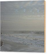 A Pastel Seaside Story Wood Print