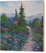 A Path Unknown Wood Print