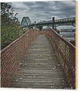 A Pathway To Philadelphia Wood Print