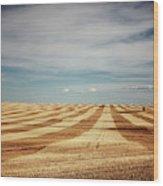 A Pattern Of Stripes Across A Farmers Wood Print