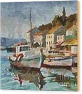 A Peaceful Harbour  Wood Print
