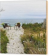 A Peaceful Respite By The Shore Wood Print by Michelle Wiarda