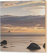 A Peaceful Sunrise Wood Print