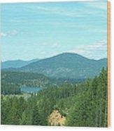 A Peek At Lake Coer D'alene  Wood Print
