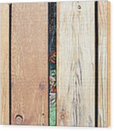 A Peek Through Wood Wood Print