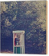 A Phone In A Booth? Wood Print