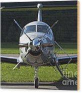 A Pilatus Pc-12 Private Jet Wood Print