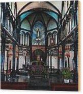 A Place Of Faith Wood Print by Kim Lagerhem
