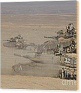A Platoon Of Israel Defense Force Wood Print