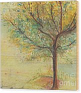 A Poem Lovely As A Tree Wood Print