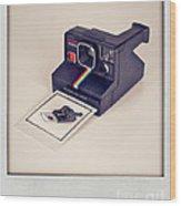 A Polaroid Of A Polaroid Taking A Polaroid Of A Polaroid Taking A Polaroid Of A Polaroid Taking A .. Wood Print