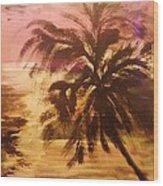 A Popular Tropical Scene Wood Print