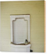 A Porcelain Wall Mounted Drinking Wood Print