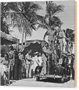 A Portable Jazz Band In Miami Wood Print