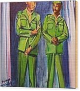 Daddy Soldier Wood Print