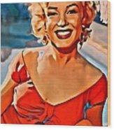 A Portrait Of Marilyn Wood Print