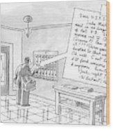 A Postman Reads A Letter Left Wood Print