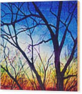A Primary Sunset Wood Print