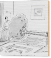 A Psychiatrist Or Psycho-analyst Sits Wood Print
