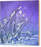 A Purple Winter Wood Print