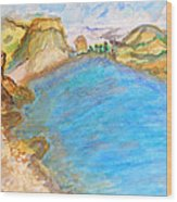 A Quiet Beach  Wood Print