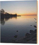 A Quiet Sunrise - Toronto Lake Ontario Wood Print