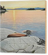 A Quiet Time Wood Print by Kenneth M  Kirsch