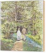 A Quiet Walk Wood Print
