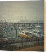 A Rainy Evening On The Port Wood Print