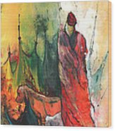 A Red Dog In Morocco Wood Print