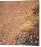 A Red Rock Wood Print