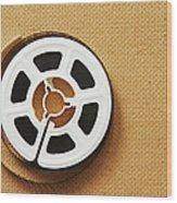 A Reel, Or Spool, Of 8mm Movie Film Wood Print