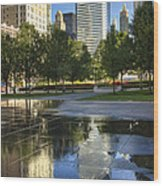 A Reflection Of Chicago Wood Print
