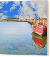 A Resting Boat Howth Ireland Wood Print by Jo Collins