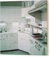 A Retro Kitchen Wood Print