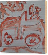 A Ride Under The Full Moon 2009 Wood Print