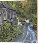 A River Flows Through It Wood Print