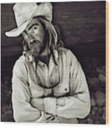 A River Guide Crosses His Arms In Front Wood Print